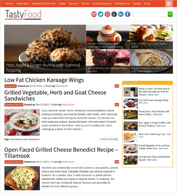 Taste Food WordPress Magazine Theme