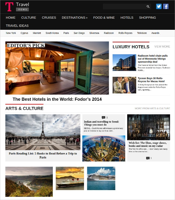 Travel WordPress Magazine Theme