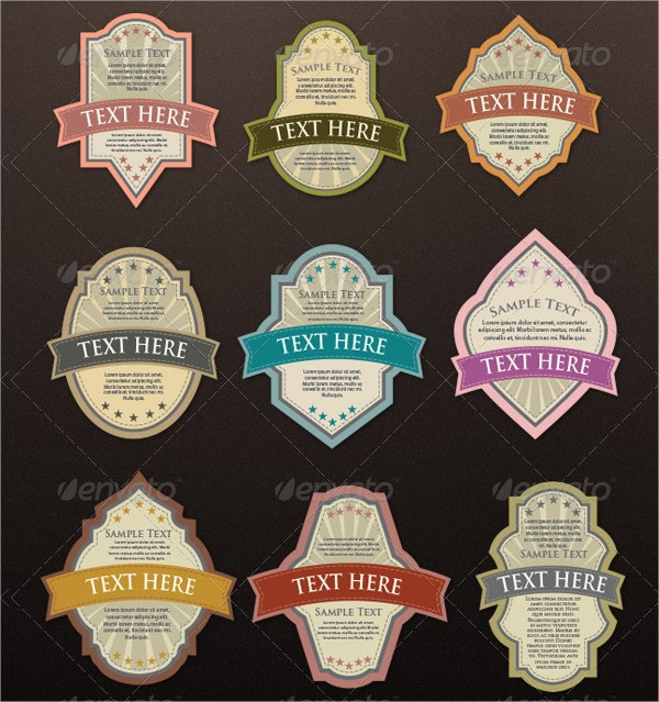 Product Label Sticker Template