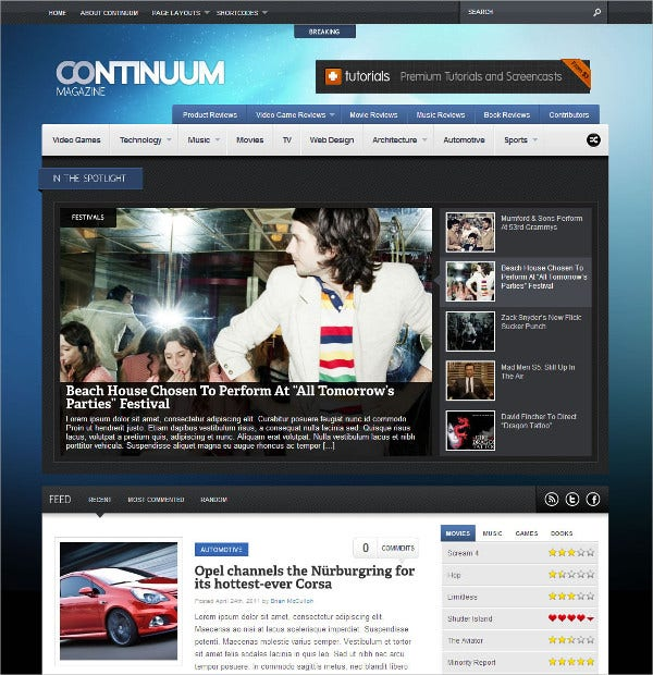 Gaming Magazine WordPress Theme $49