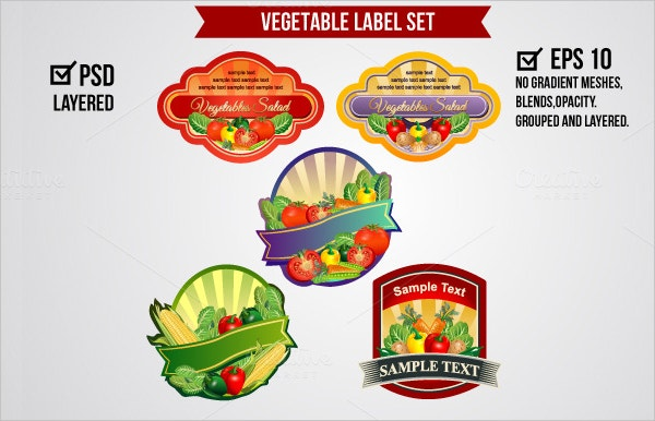 Vegetable Label Set