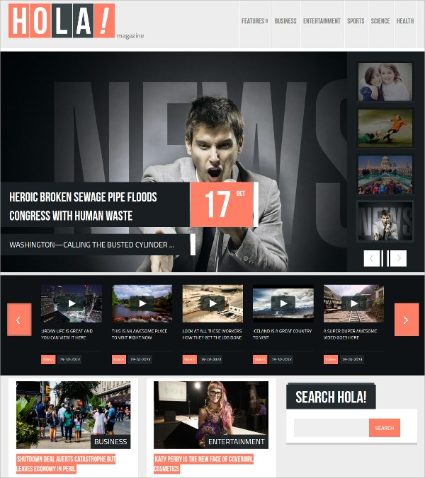 Responsive News, Magazine WordPress Theme $49
