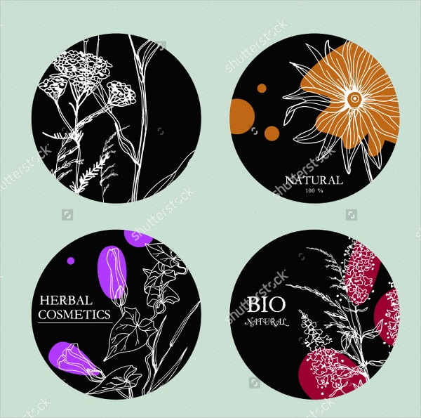 vector beauty label template