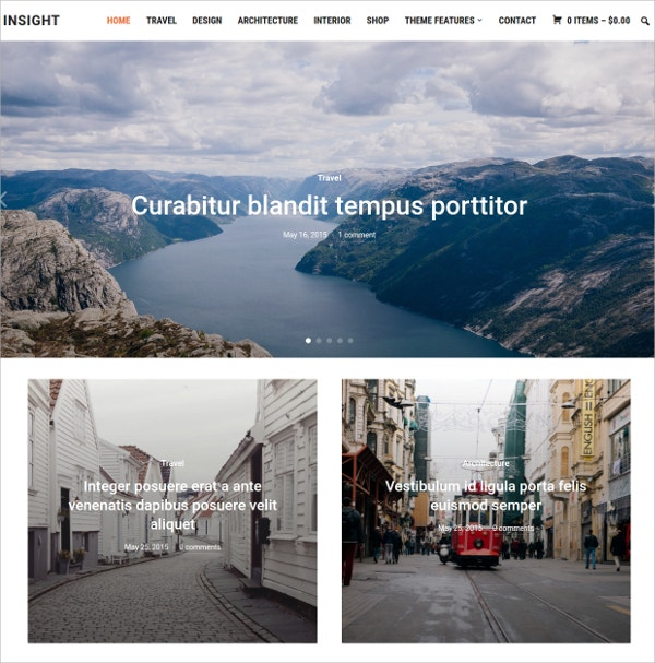 Beautiful Photography WordPress Theme $69