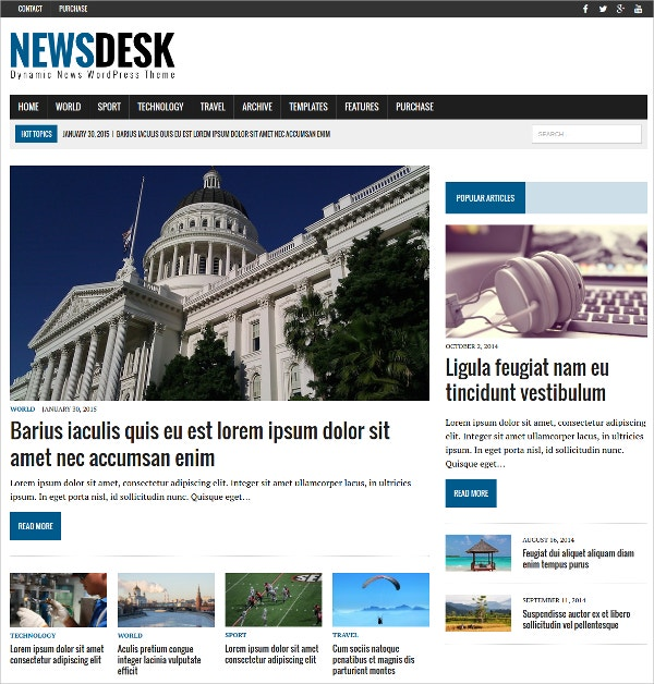 Social Advertising News WordPress Theme $79