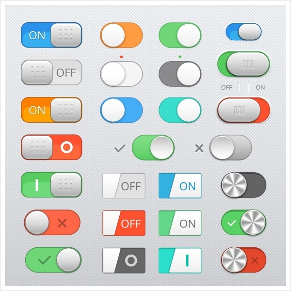 flat toggle button