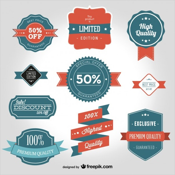 vintage product label template1