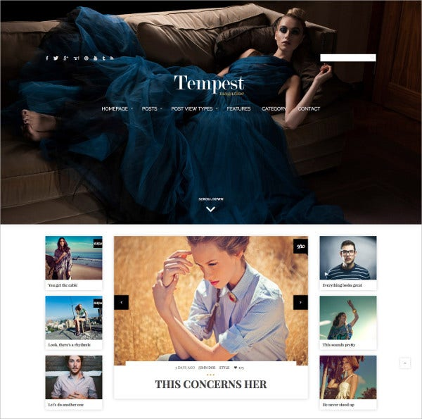 Modern Fashion Magazine WordPress Theme $59