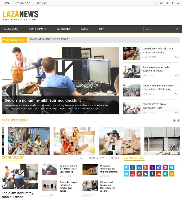 News, Magazine WordPress Theme $39