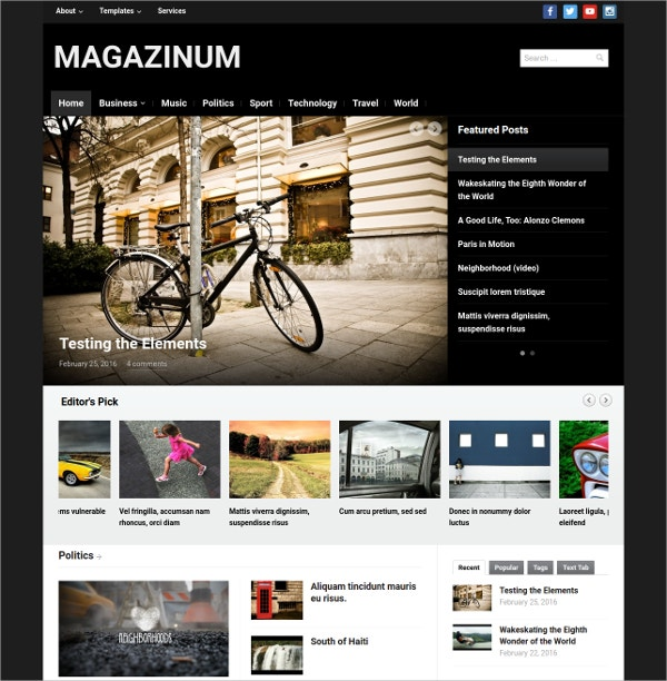 Innovative News WordPress Theme