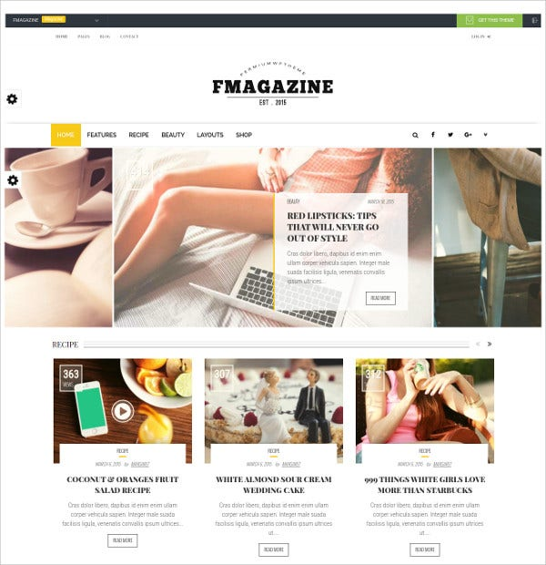 Elegant Magazine WordPress Theme $59