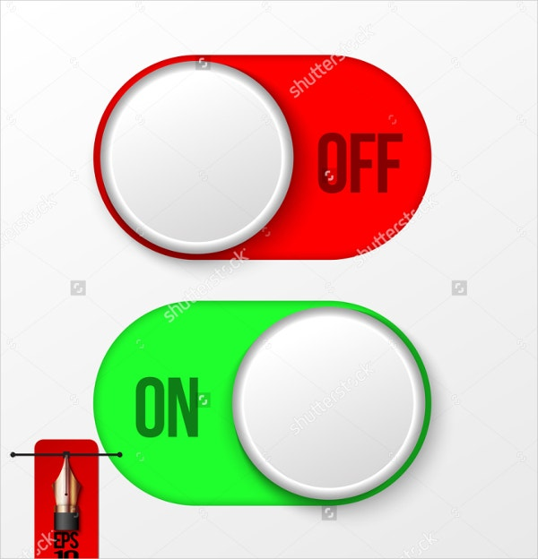 rounded on off toggle button