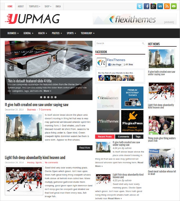Free Fully Responsive News WordPress Theme