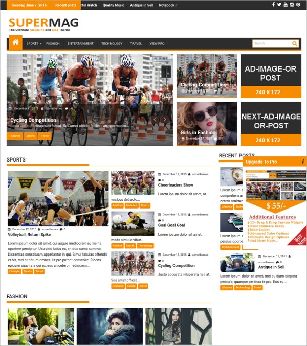 News, Magazine And Blog WordPress Theme