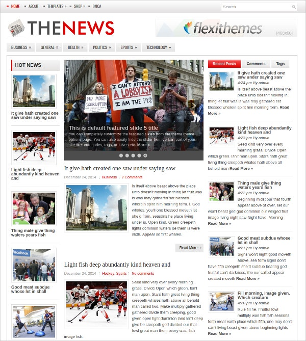 News, Magazine WordPress Theme