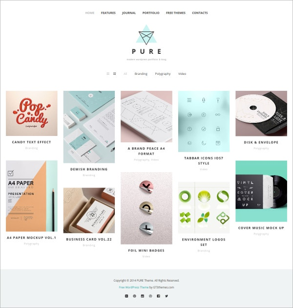 free portfolio wordpress theme
