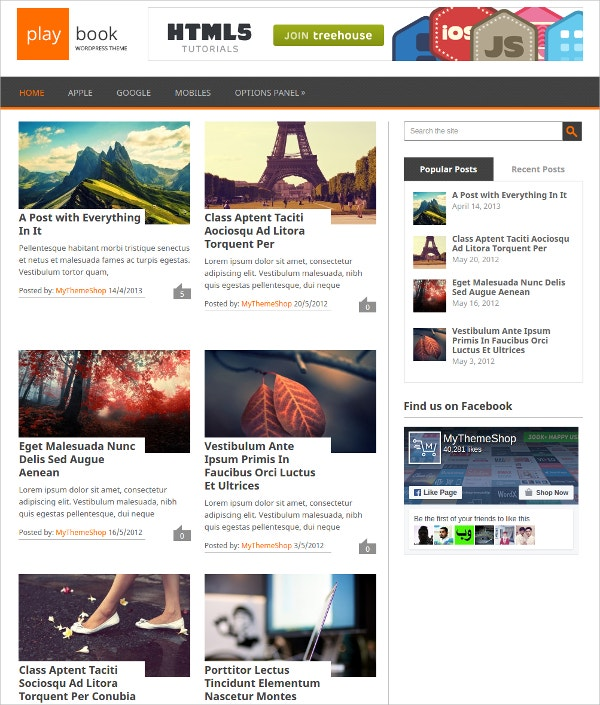 Free Traditional WordPress Theme