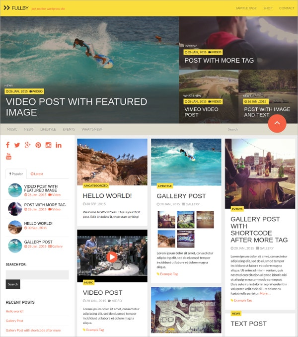 Free Grid WordPress Theme