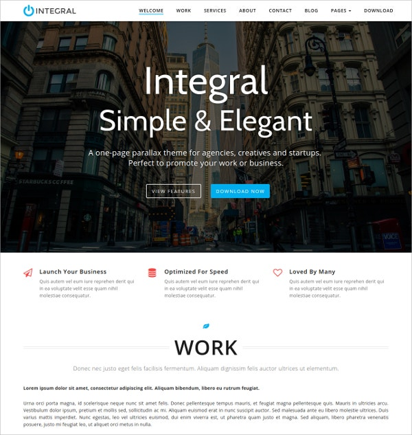 simple elegant free wordpress theme