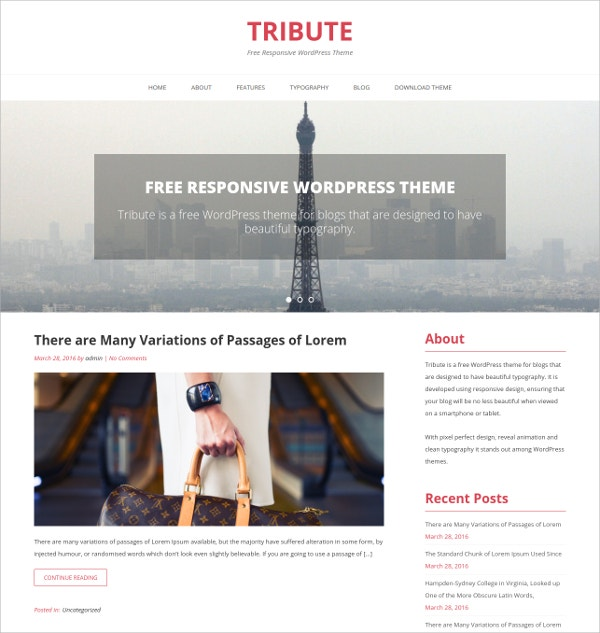 Perfect Design Free WordPress Theme