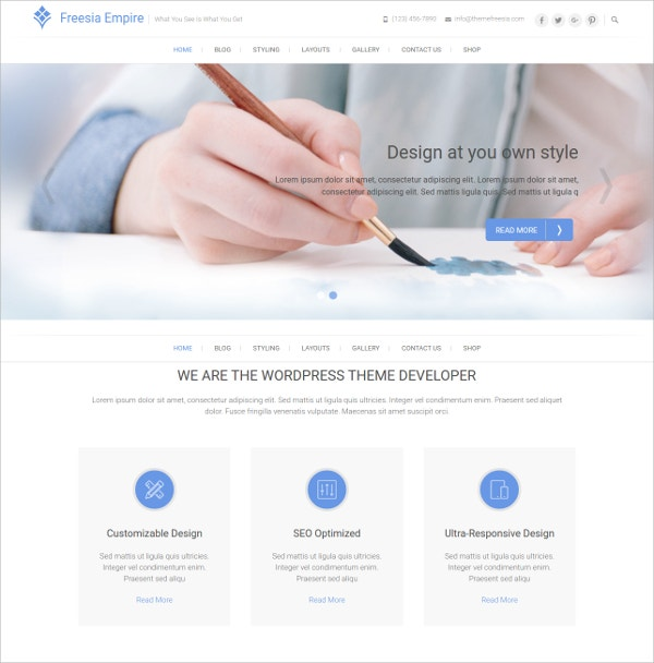 Best Free Responsive & Business WordPress Theme
