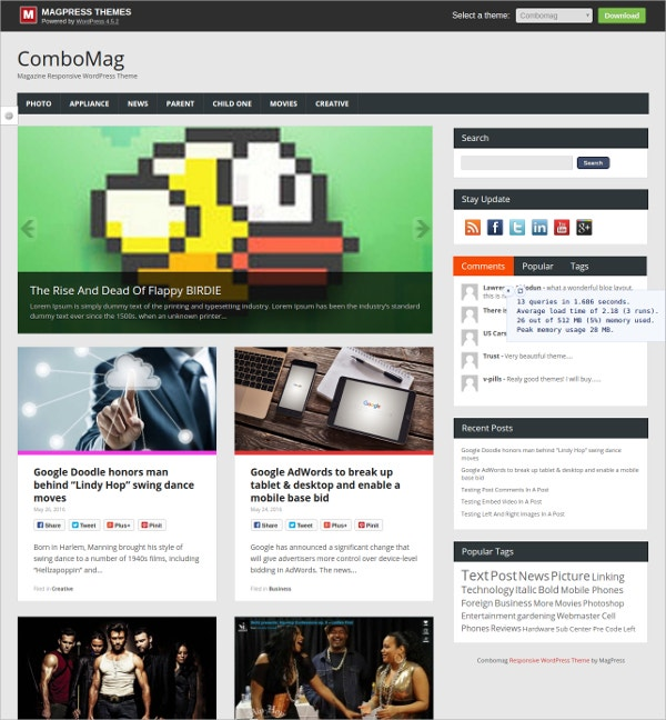 news magazine free premium wordpress theme