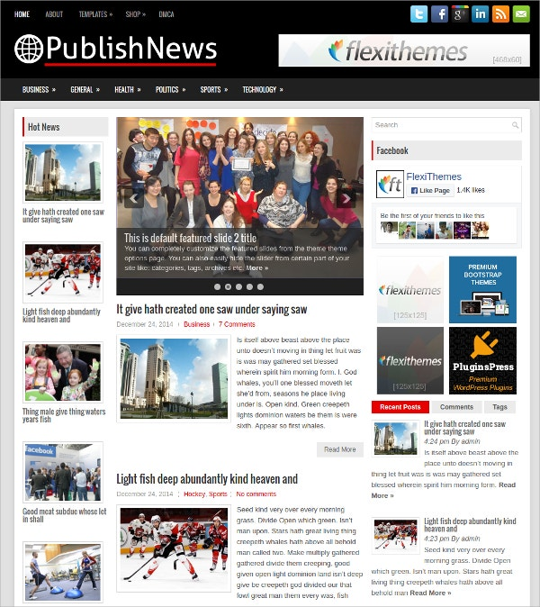 Free Publish News WordPress Theme