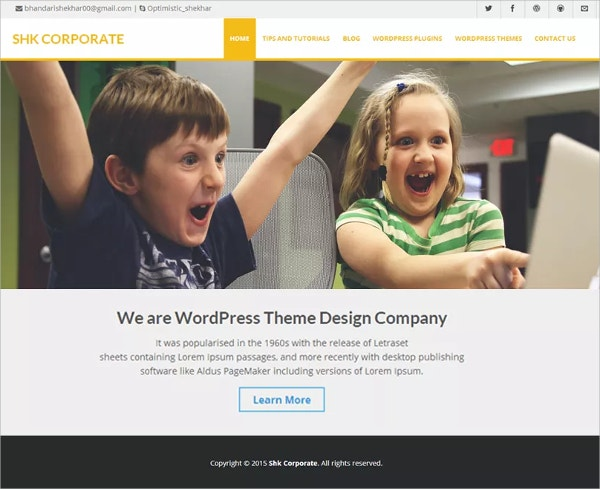 Free Design Company & Business WordPress Theme