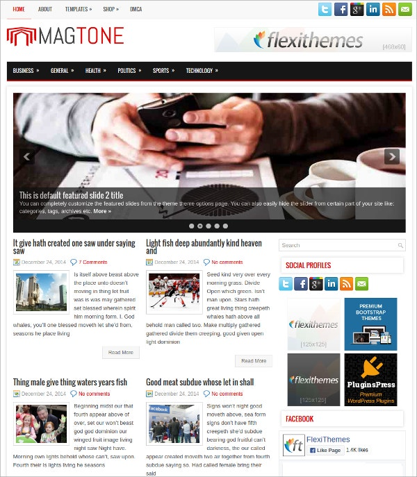 fully responsive free wordpress theme