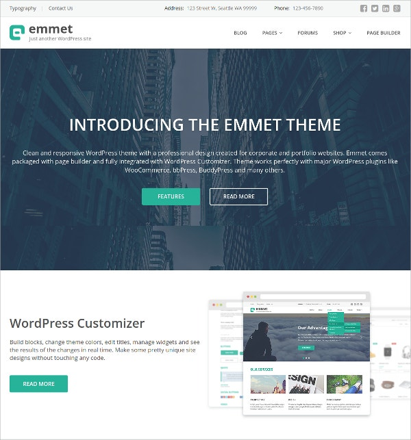 multipurpose free wordpress theme for corporate