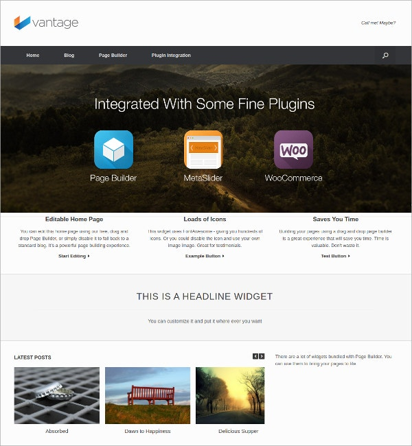 amazing multipurpose free wordpress theme