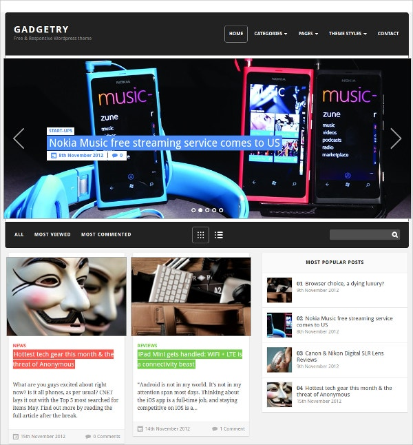 Gadget Free WordPress Theme