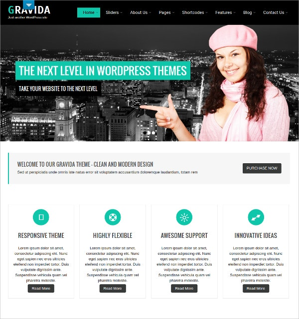 premium professional for clients free wordpress theme