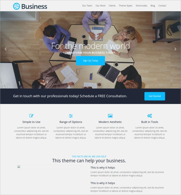 Free modern Business Theme