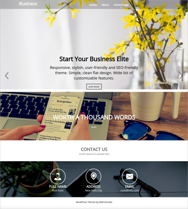 free business corporate theme