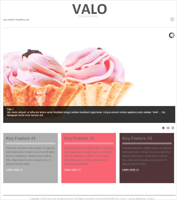 free taste food business wordpress theme
