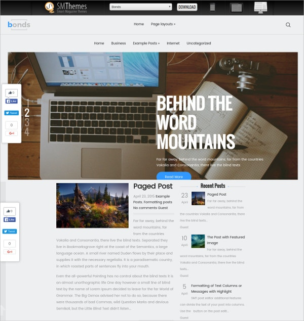 free professional business wordpress theme
