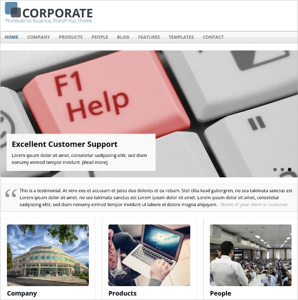 basic free business wordpress theme