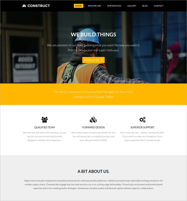 Free Construct Developer Business WordPress Theme