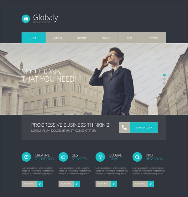 free wordpress business company theme