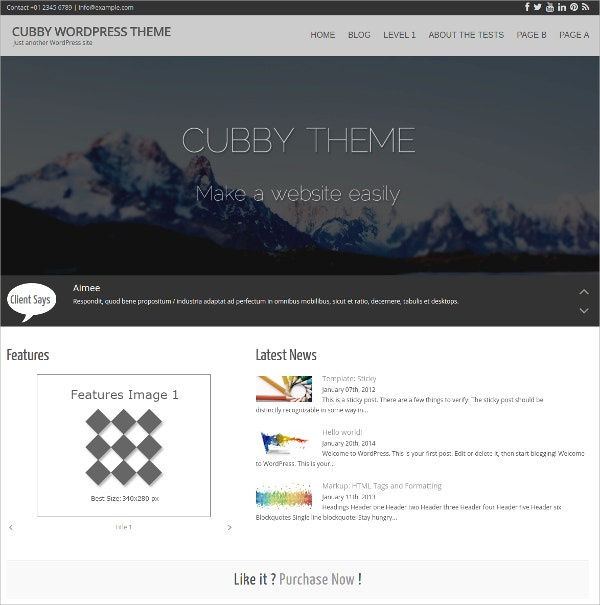 premium free business wordpress theme