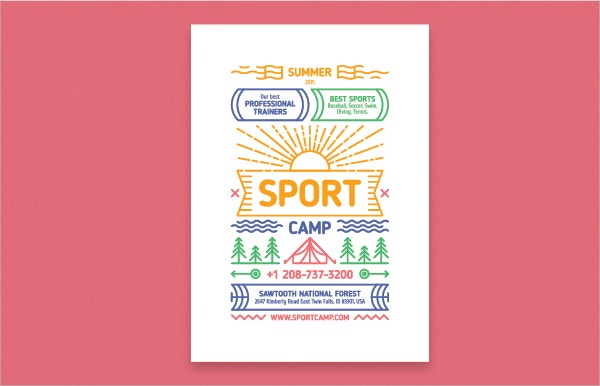 Event poster free template