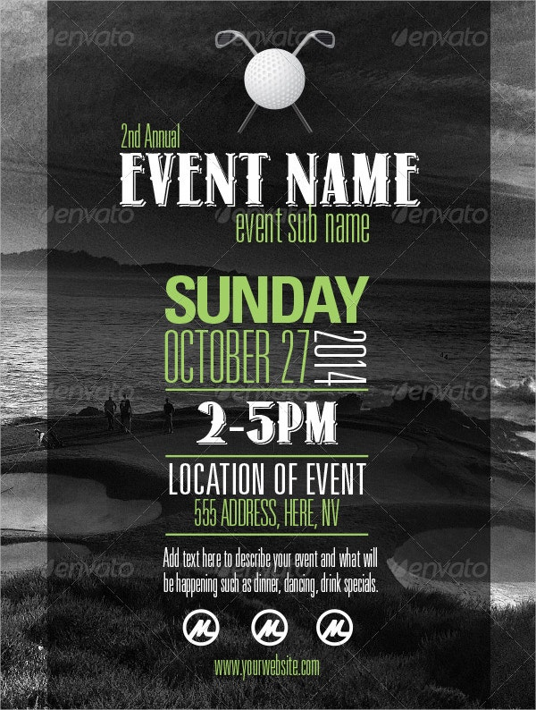 Beach Event Poster Template