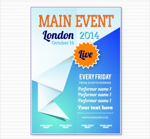 free event poster template