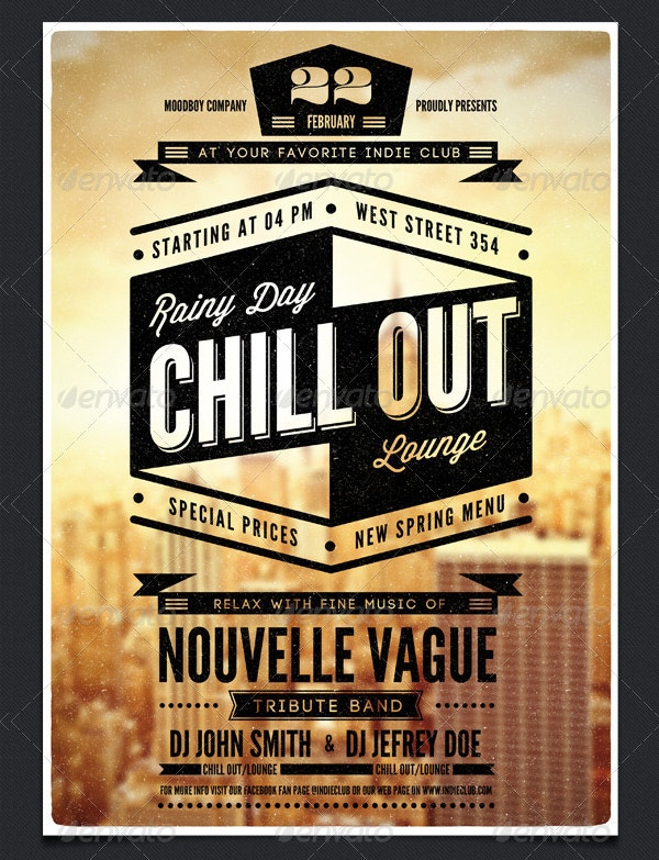 Chill Out Poster Template