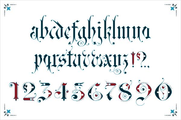 Gothic Ornamental Font