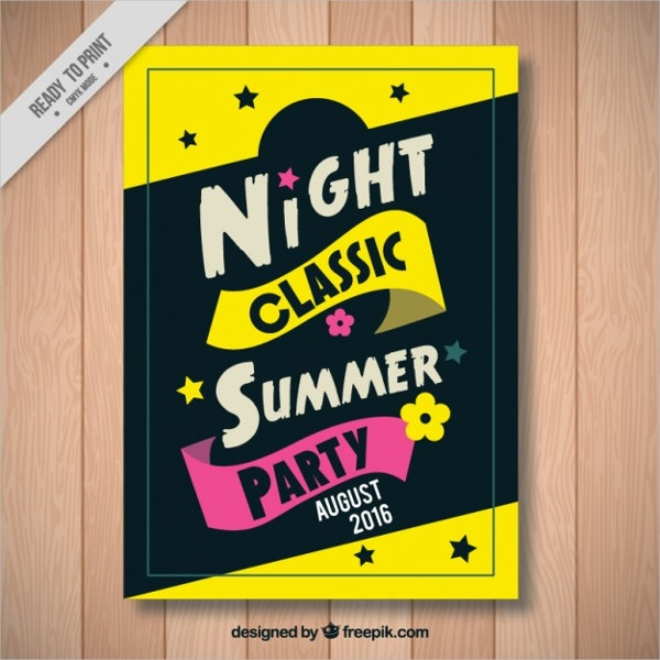 Fun Summer Party Poster Free Vector