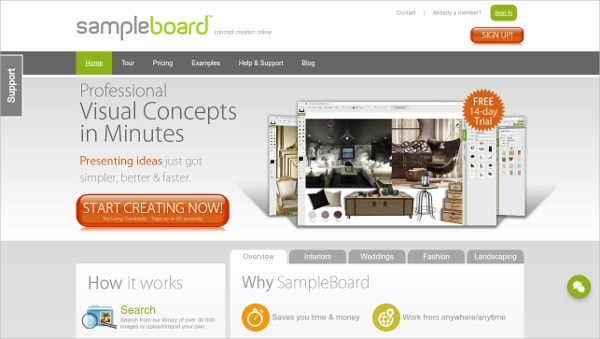 sampleboard professinal visual concepts