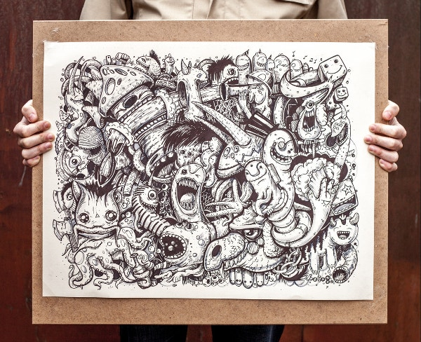 Hand Drawn Graphic Monsters