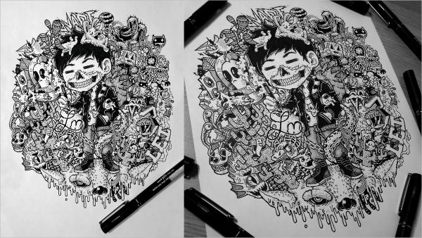 34 Imaginative Doodle Art Designs Free Amp Premium Templates